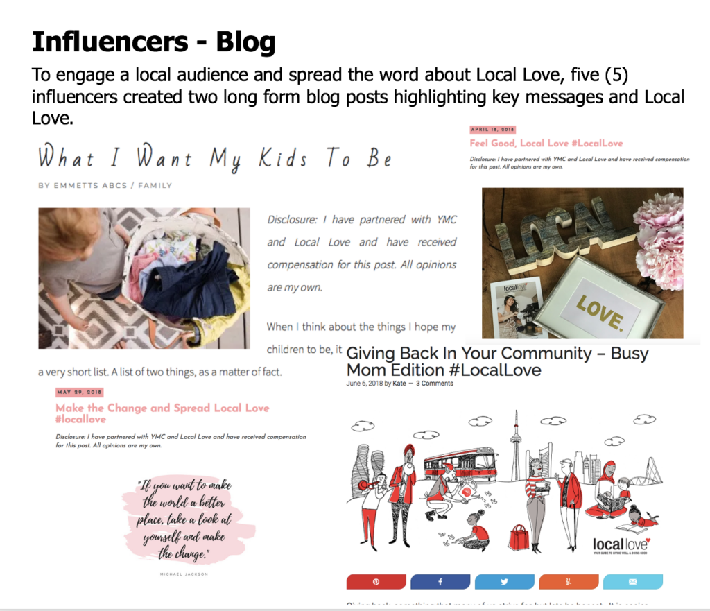 Influencers Blog - LocalLove.ca Marketing to Local Moms